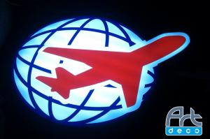 Лайтбокс в виде логотипа