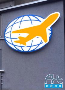 Объемный логотип с внутренней подсветкой