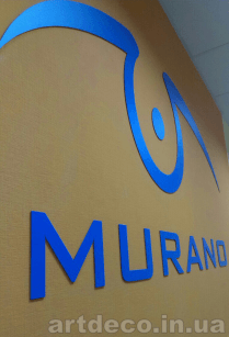 псевдо объемные буквы в офис
